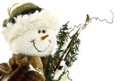 Snow man. Close-up of stuffed snow man royalty free stock image