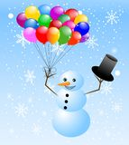 Snow man with air marble Stock Images