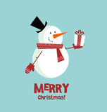 Snow man card Stock Photography