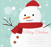 Snow man Card Royalty Free Stock Images