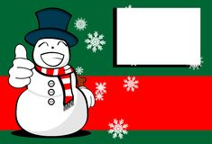 Snow man cartoon xmas background Royalty Free Stock Images