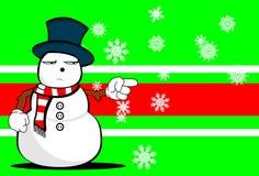 Snow man cartoon xmas background4 Stock Photo