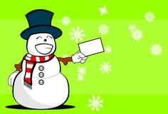 Snow man cartoon xmas background8 Royalty Free Stock Photography