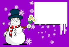 Snow man cartoon xmas background9 Royalty Free Stock Photography