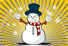 Snow man cartoon xmas background0 Royalty Free Stock Photo