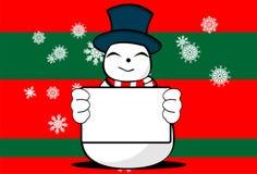 Snow man cartoon xmas background05 Stock Image