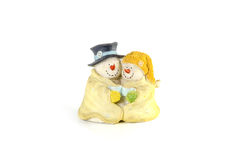 Snow man Couple smiling  Stock Image