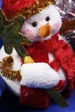 Snow man decoration stock photos