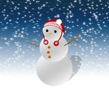 Snow man stock illustration