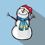 Snow man flat Stock Image
