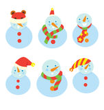Snow Man Friends Stock Photos