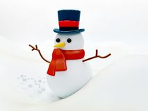 Snow man illustration Stock Image