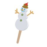 Snow man lollipop Royalty Free Stock Images