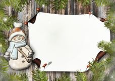 Snow Man, Paper, Greeting Card Stock Images