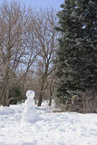 Snow man in the park Stock Photos