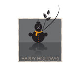 Snow Man. Perfect for holiday greeting cards!  Also available in  EPS format Stock Image