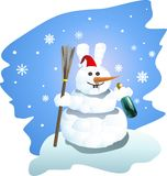 Snow man-rabbit Stock Images
