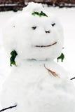 Snow man sculpture Royalty Free Stock Photo