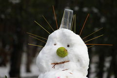 Snow man 01. This shoot of snowman is taken in October 2014 Royalty Free Stock Images