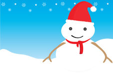 Snow man. Is a sign of Christmas and a sign of celebration time Stock Photos