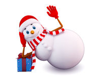 Snow man is sleeping Royalty Free Stock Photography