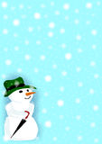 Snow Man in a Snow Storm Stock Photography