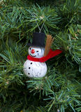 Snow man in tree Stock Photos
