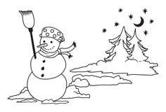 Snow man Stock Photography
