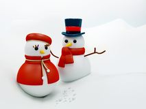 Snow man and woman Stock Photography