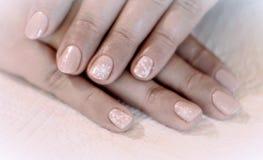 Snow Manicure Royalty Free Stock Photo