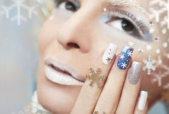 Snow manicure. Stock Photography