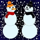 Snow mans Stock Image
