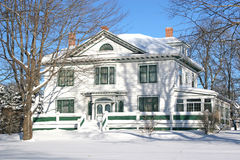 Snow Mansion Stock Image