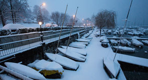 Snow In Marina II Stock Images