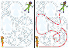 Snow maze Stock Images
