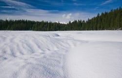 Snow meadows Stock Photos