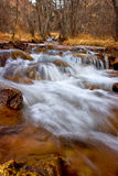 Snow melt on Fountain Creek. The rushing waters of Fountain creek in Manitou springs, Colorado royalty free stock photos
