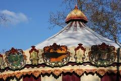 Snow on the merry-go-round Stock Image