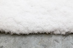 Snow on metal roof. Fresh snow on metal roof royalty free stock photo