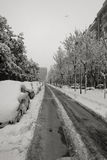 Snow in Milan, Italy Stock Images