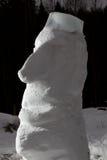 Snow Moai Royalty Free Stock Photo