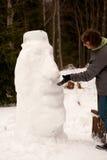 Snow Moai Stock Photography