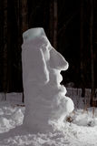Snow Moai Royalty Free Stock Image