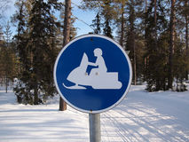 Free Snow Mobile Traffic Sign Stock Photos - 21542763