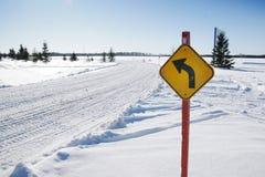 Snow mobile trail Stock Photos