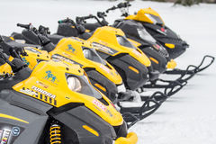 Snow mobiles in japan Stock Images