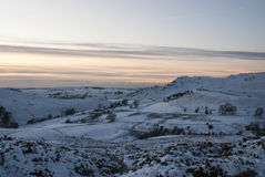 Snow on moorlands Royalty Free Stock Photography