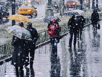 Snow. In Moscow Stock Images