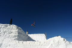 Snow motocross Royalty Free Stock Image