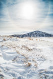 Snow in Mount Aso Royalty Free Stock Images